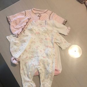 Little Me Girls Baby Newborn one piece outfits
